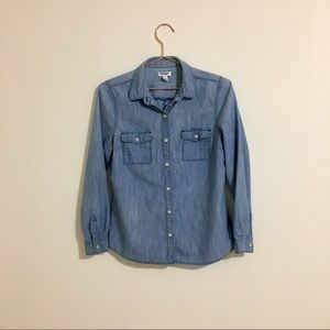 3/25 Old Navy Chambray Button Up Shirt Size Small